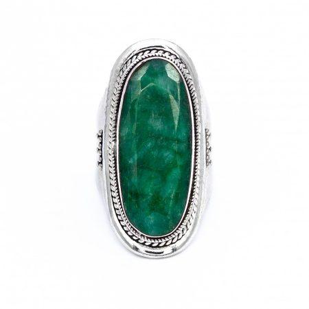 """Ezüst smaragd gyűrű """"12x29"""""""