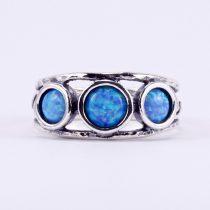 """Izraeli ezüst opál köves gyűrű """"3.csiga"""""""
