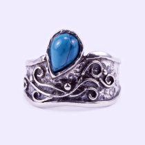 """Ezüst türkiz köves gyűrű """"csepp"""""""