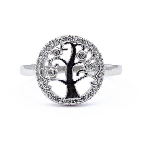 """Ezüst cirkónia köves életfa gyűrű """"13"""""""
