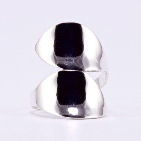 """Ezüst gyűrű  """"két levél"""""""