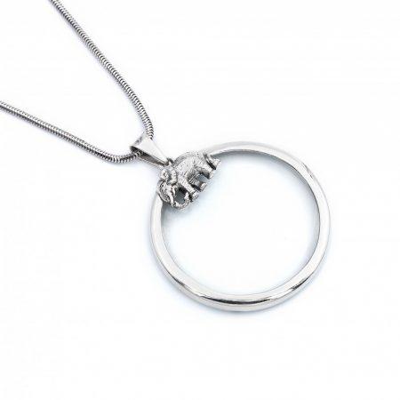 """Ezüst nagyító medál lánccal """"kis.elefánt"""""""