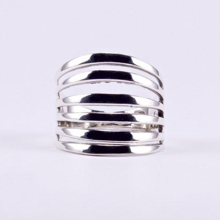 """Ezüst gyűrű """"hatsoros"""""""