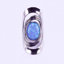 """Izraeli ezüst opál köves gyűrű """"nagy.ovál"""""""