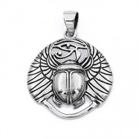 Ezüst szkarabeusz medál