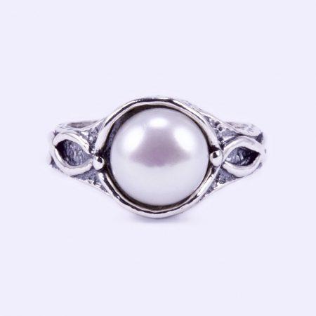 """Izraeli ezüst gyöngy gyűrű """"hullám"""""""