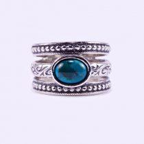 """Izraeli ezüst türkiz köves gyűrű """"fekvő.ovál"""""""