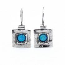 Izraeli ezüst opál köves fülbevaló