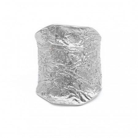 Ezüst szélesedő gyűrű