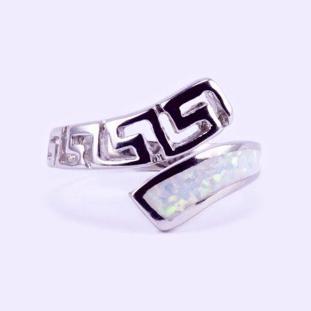 """Ezüst fehér opál köves gyűrű """"áll.görög"""""""