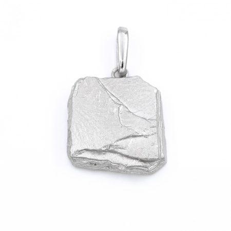 """Ezüst ródiumozott medál """"kő"""""""