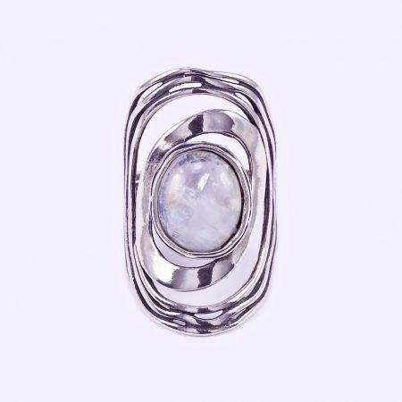Izraeli ezüst holdköves gyűrű