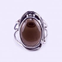 """Ezüst füstkvarc gyűrű """"ant"""""""