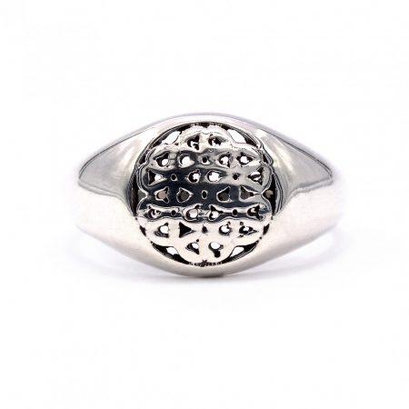 Ezüst élet virága gyűrű