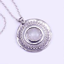 """Izraeli ezüst holdköves medál lánccal """"12"""""""