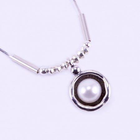 """Izraeli ezüst gyöngy medál lánccal """"gömb"""""""