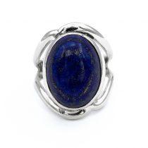 """Ezüst lápisz lazuli köves gyűrű """"13x17"""""""