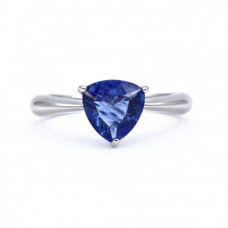 """Ezüst cirkónia köves gyűrű """"kék"""""""