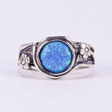 """Izraeli ezüst opál gyűrű """"virág"""""""