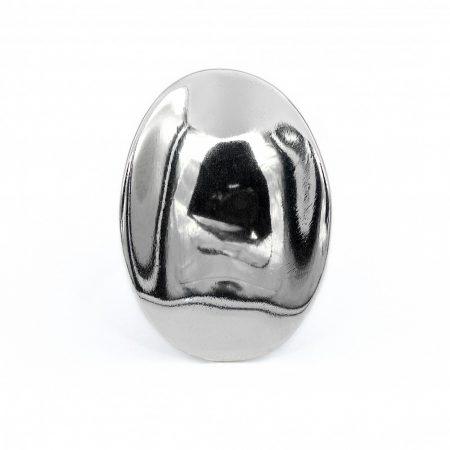 """Ezüst gyűrű """"homorú,ovál"""""""