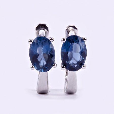 Ezüst London Blue topáz fülbevaló