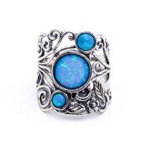 """Izraeli ezüst opál köves gyűrű """"átlós,virágos"""""""
