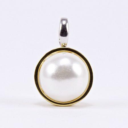 Ezüst aranyozott gyöngy medál