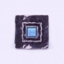 """Izraeli ezüst opál köves gyűrű """"nagy.négyzet"""""""