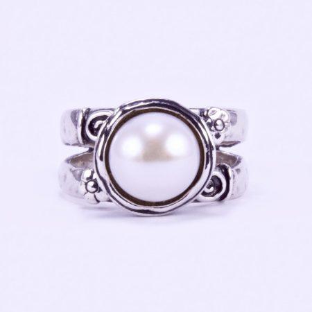 """Izraeli ezüst gyöngy gyűrű """"virág"""""""