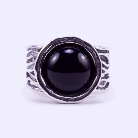 """Izraeli ezüst ónix köves gyűrű """"12.kerek"""""""