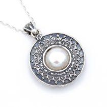 """Izraeli ezüst gyöngy medál lánccal """"ant"""""""