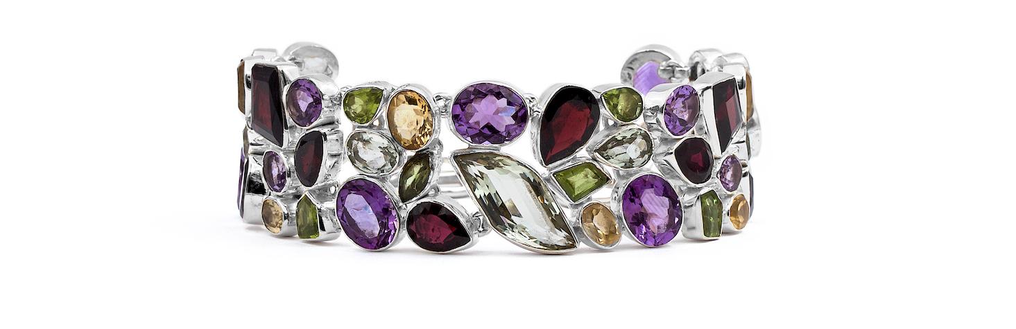 Ezüst valódi köves gyűrű